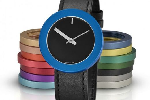 Hamilton Hill Watch with Colored Bezels Black Wrist Band